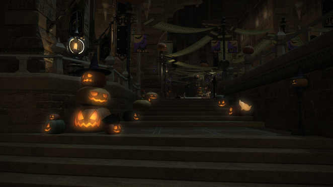 FFXIV - All Saints Day - Side-Street Decorations