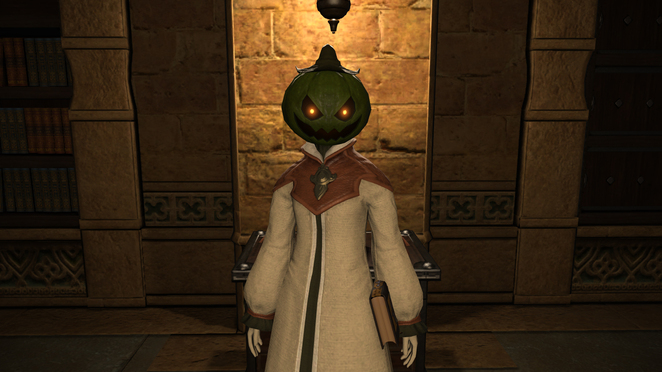 All Saints Day - Costume - Unripened Pumpkin Head