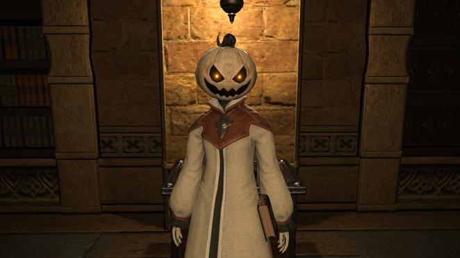 All Saints Day - Costume - White Pumpkin Head