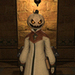 All Saints Day - Costume - White Pumpkin Head
