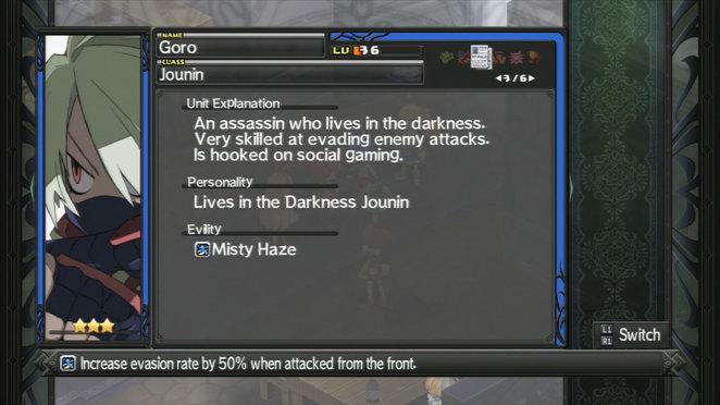 Goro - Evility and Class Description