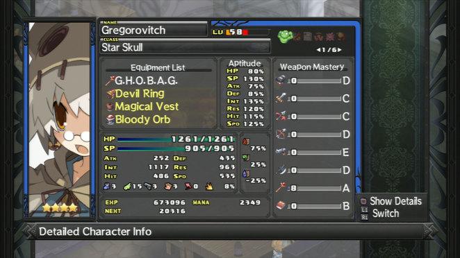 Gregorovitch - Detailed Unit Summary