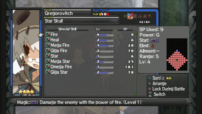 Gregorovitch - Skill List