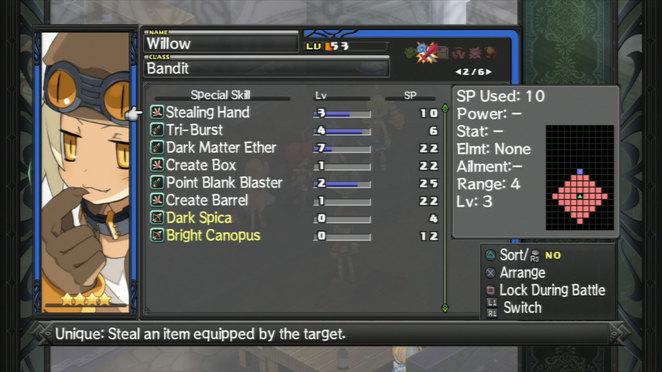 Willow - Skill List