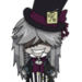 Undertaker from Black Butler chibi form