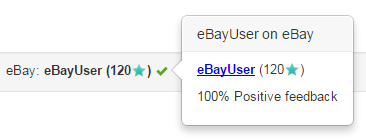 Sample eBay user feedback