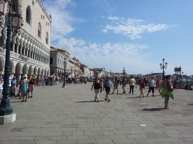Walking along the Southern part of Venice