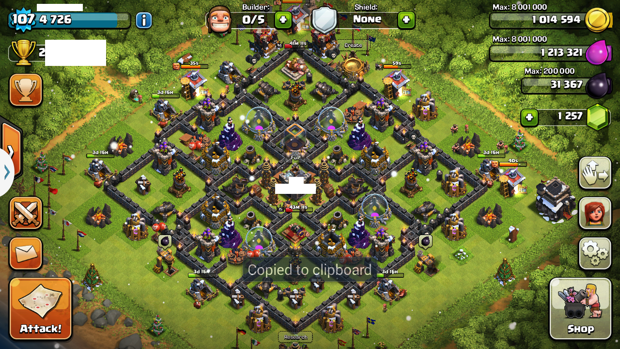 Maxed Out Th9 Level 9 Walls Ready For Th10 Clash Of