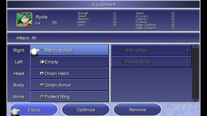 Rydia's OP endgame gear.