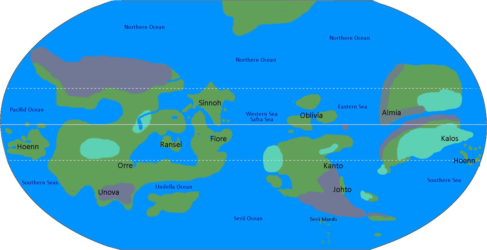 ... Putting Everything Together, But I Can Finally Present A Complete World  Map Of Pokemon. I Have Put A Lot Of Reason And Time Behind How I Made The  Map.