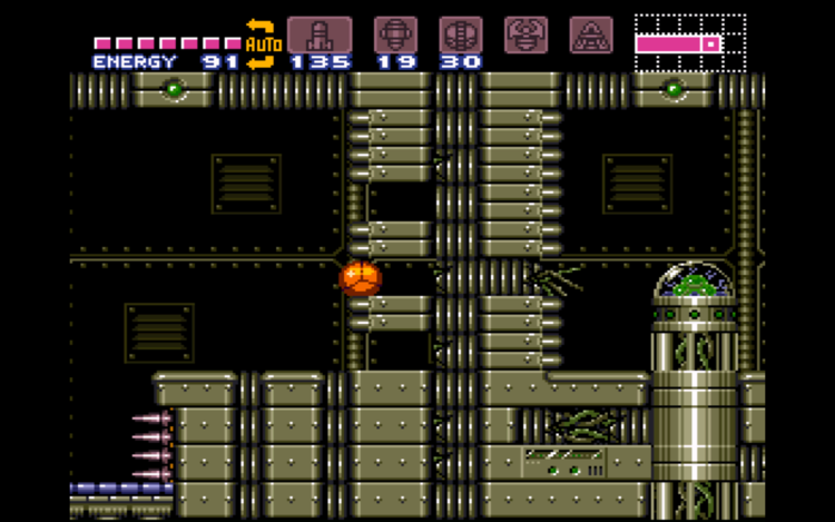 how to get out of reserve tank room super metroid