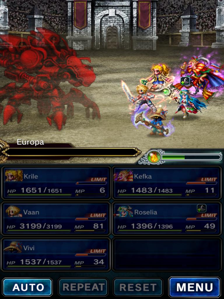 Beating Europa Colosseum Bgn S 5 Boss Final Fantasy Brave