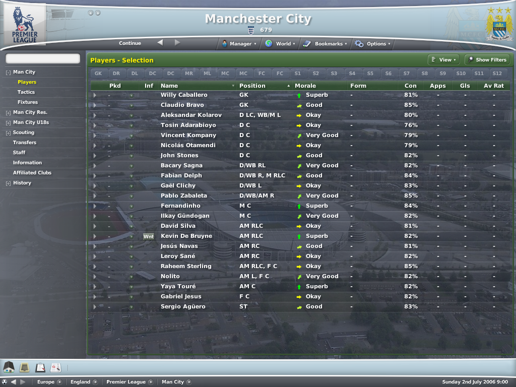 Here S A Database For The 2016 17 Season For Fm 2007