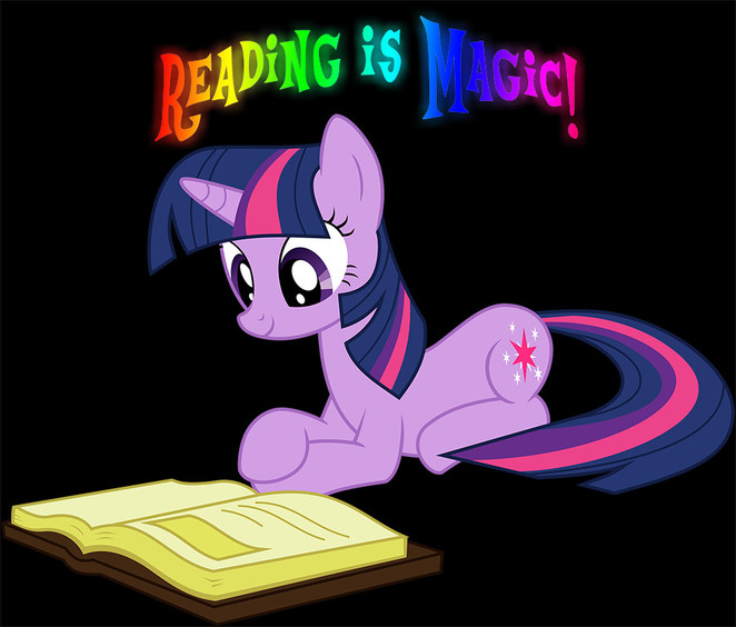 Twilight Sparkle - Reading is Magic (Small)