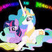Twilight and Celestia - Reading is Magic (Small)