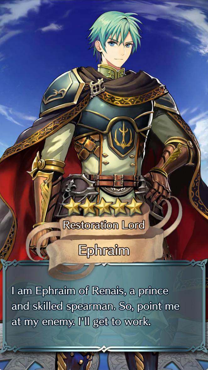 Fire Emblem Heroes - Ephraim