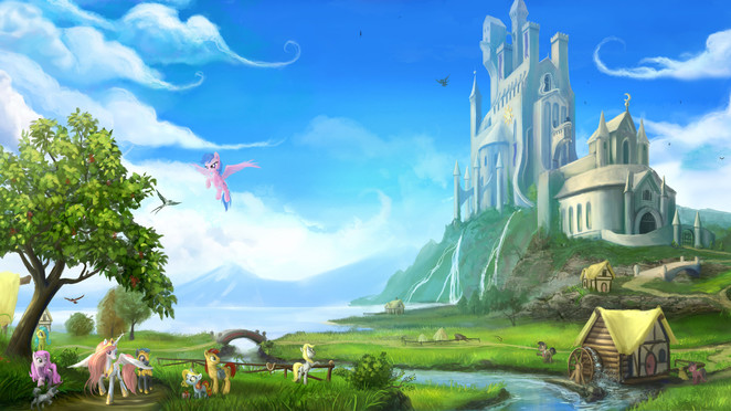 Once Upon a Time in Equestria V1 by Devinian (QHD)
