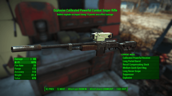 FO4 - Explosive Sniper Rifle