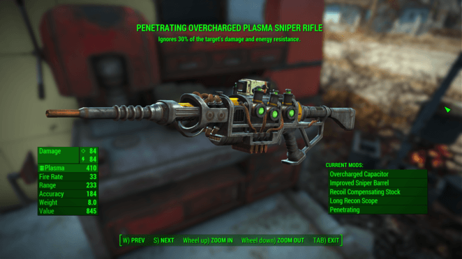 FO4 - Penetrating Overcharged Plasma Sniper Rifle