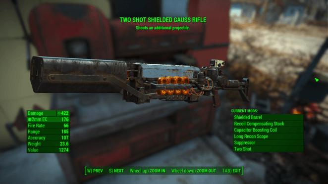 FO4 - Two Shot Shielded Gauss Rifle