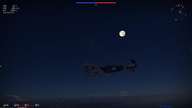 Moonlit night over the Norwegian fjords