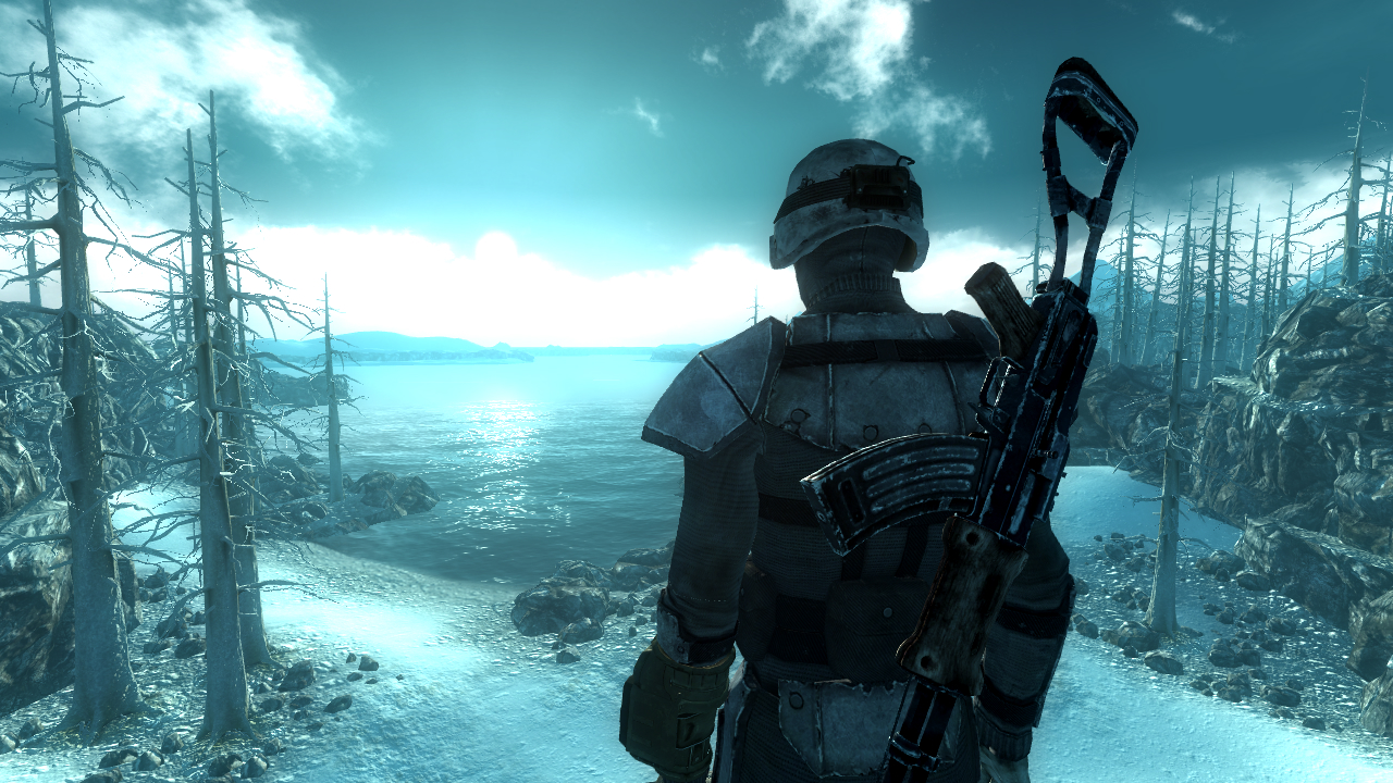 three screenshots from fallout 3 operation anchorage