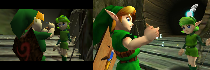Yes, Zelda: Ocarina of Time 3D looks much better than the N64