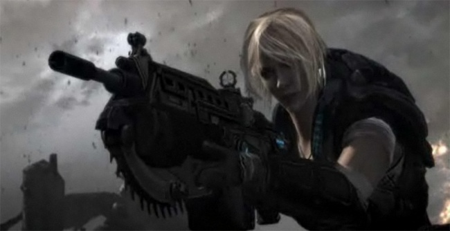 The first Gears of War 3 trailer premiered tonight on Late Night with Jimmy