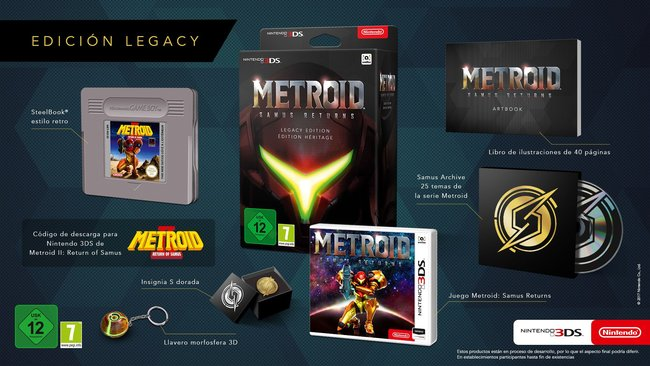 metroid ii samus returns legacy edition revealed for europe come