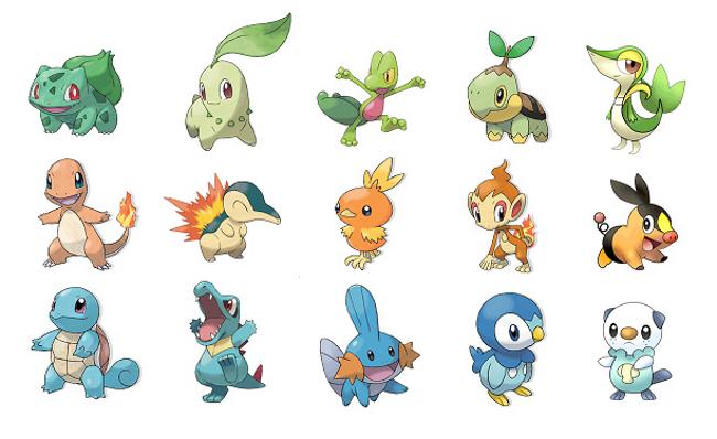 Pics Photos All The Starter Pokemon