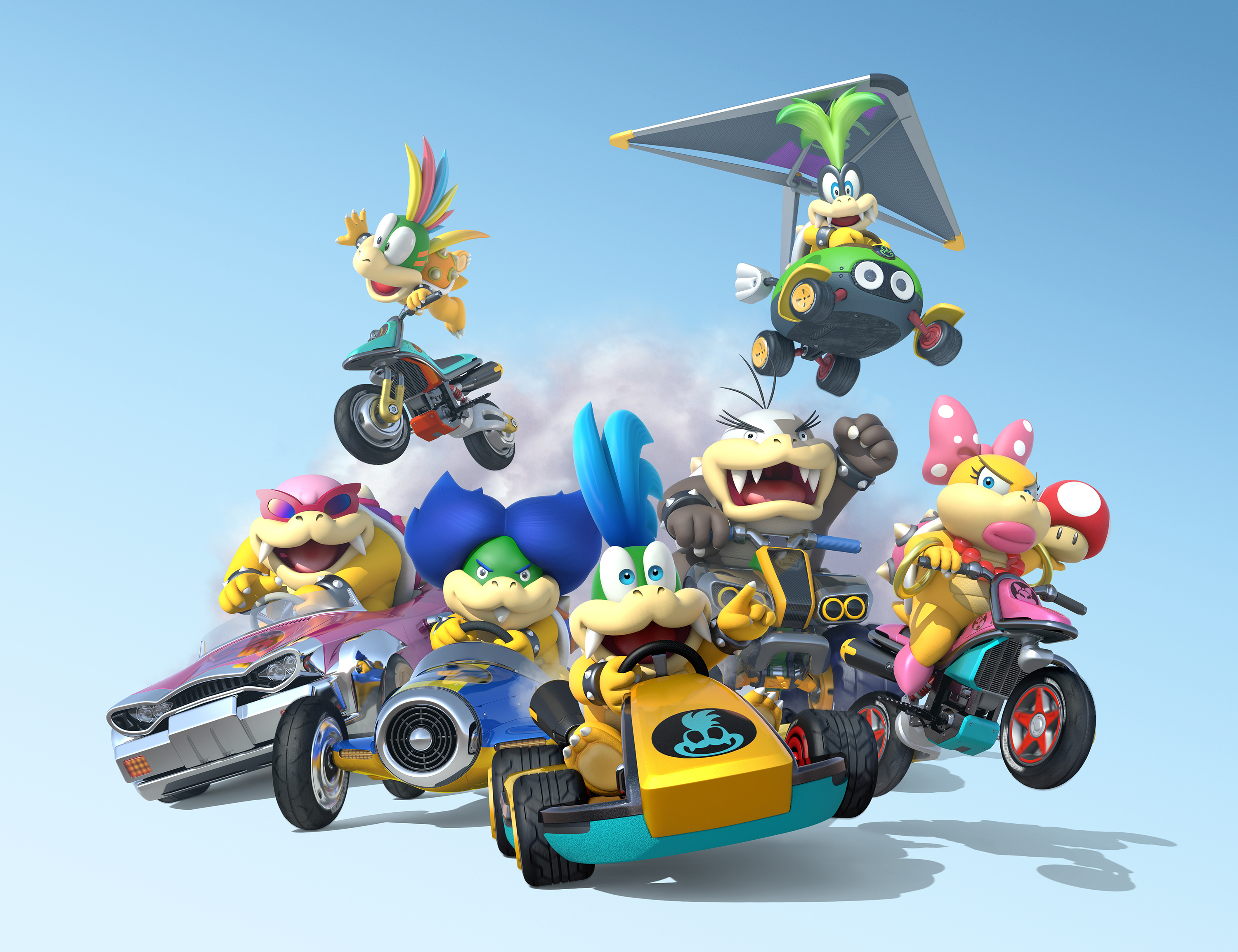 Mario kart 8 looses the koopalings all seven playable when mk8 launches may 30 neoseeker - Mario kart a colorier ...