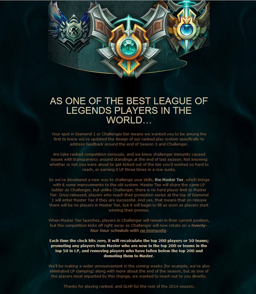 League Master