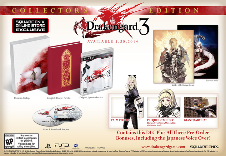 Drakengard 3 launches May 20 only on PS3, preorder