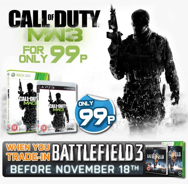 GameStop UK lets you score Modern Warfare 3 for 99p by