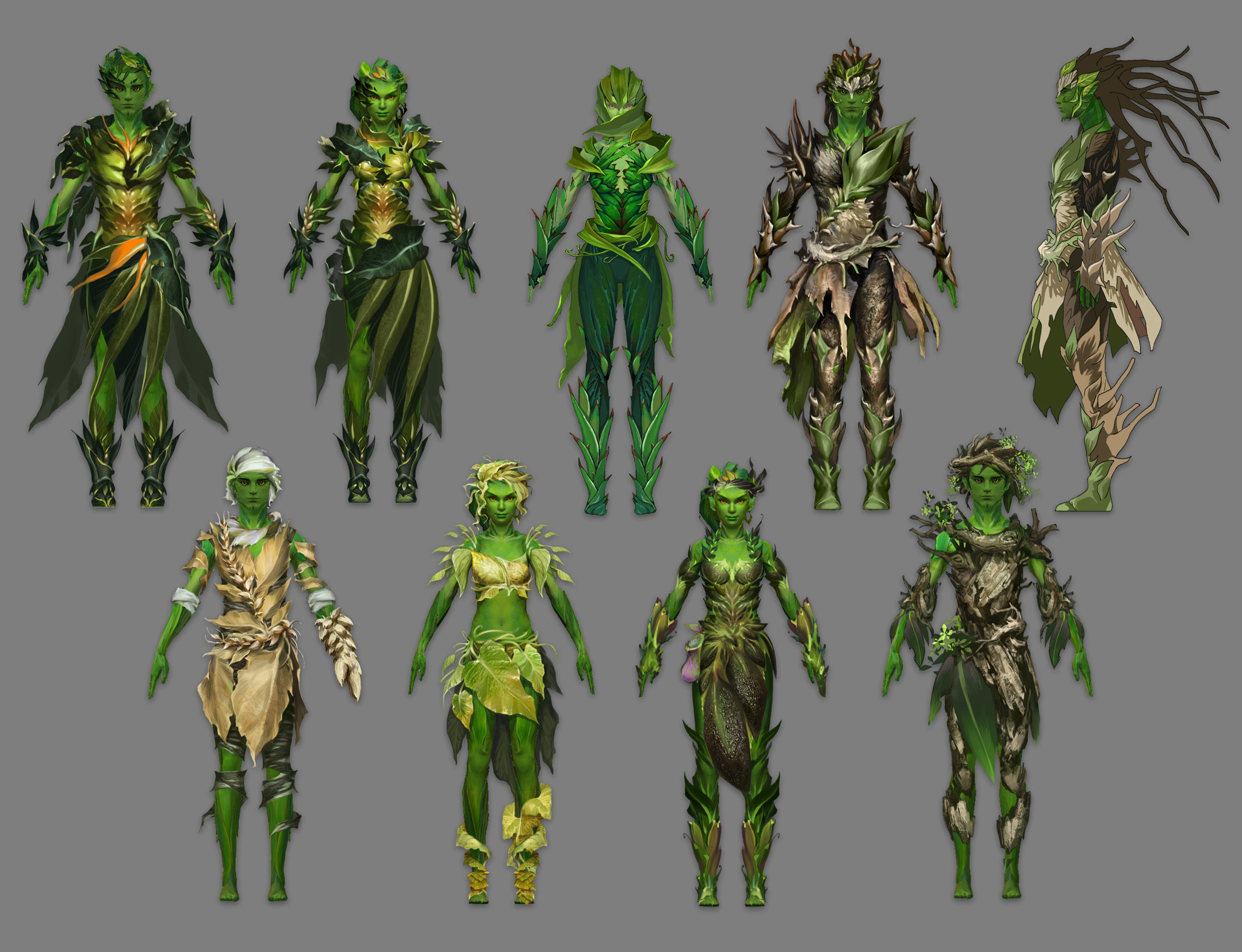 Guild Wars 2 sylvari redesign takes more plant-like qualities