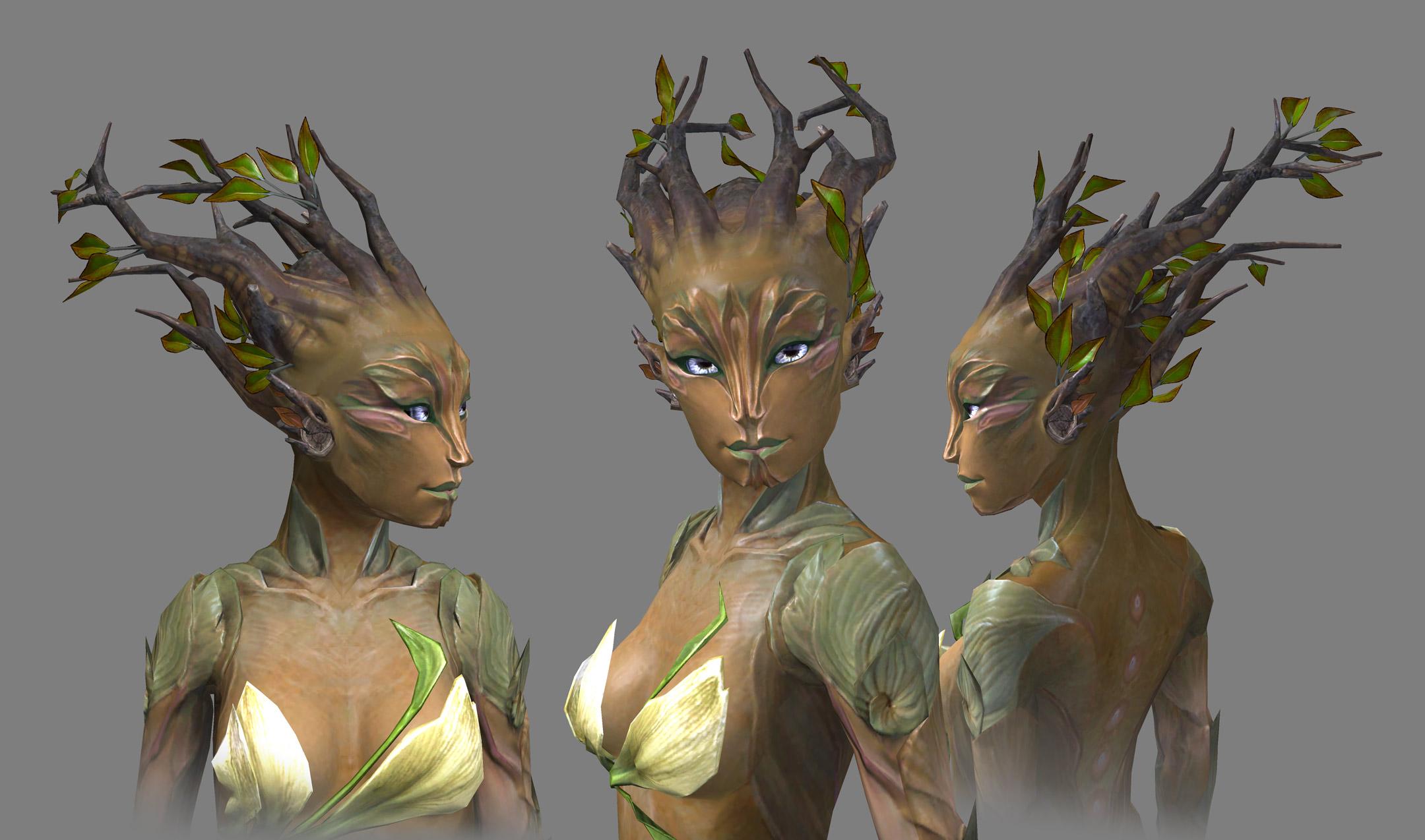 Guild Wars 2 sylvari redesign takes more plant-like