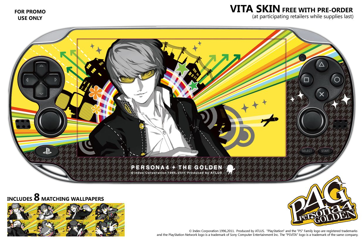 persona 4 golden pre-order bonus is a golden playstation vita