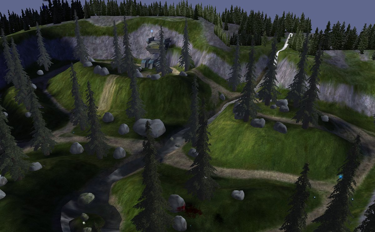 Halo ce anniversary maps detailed includes 39 timberland for Halo ce portent 2 firefight