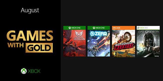 Xbox 360 Games With Gold : August s games with gold gives crimson dragon on xbox one
