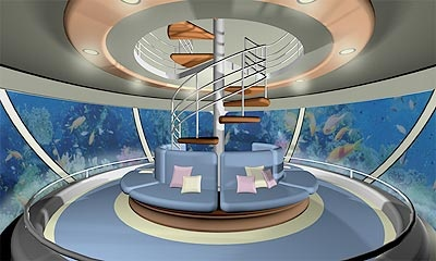 Live In A Floating Ocean Home With An Underwater Living Room