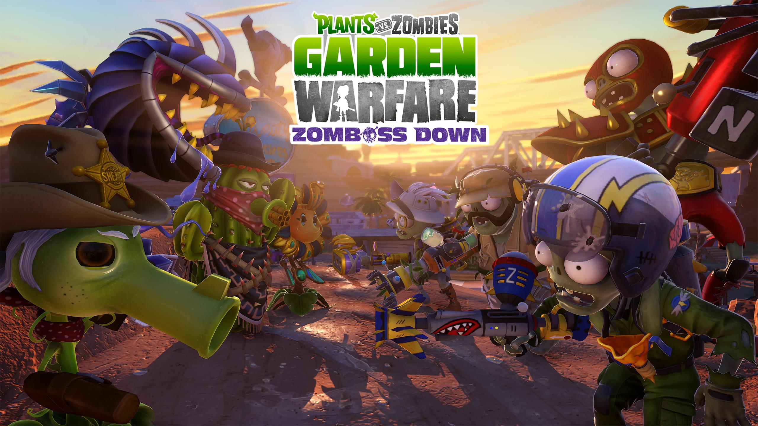 Plants Vs Zombies Garden Warfare Goes West Free Zomboss Down Dlc Available Now Neoseeker