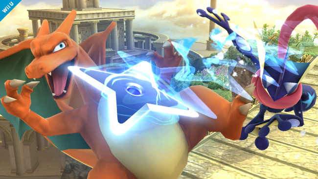 Super Smash Bros  Wii U 3DS knows who that Pokemon is  it s Charizard    Greninja Super Smash Bros