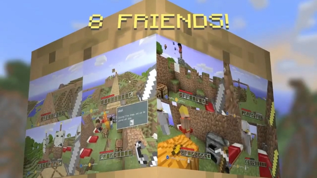 Minecraft Xbox 360 Edition trailer shows off multiplayer in action