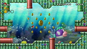 A Cheep Chomp in New Super Mario Bros. Wii