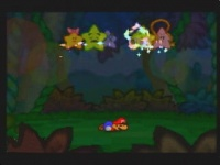 Mario with the surrounding Star Spirits