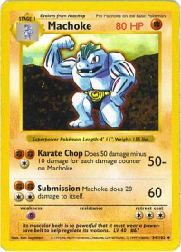 What moves does machoke learn in platinum